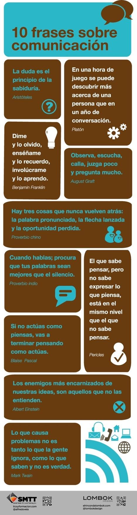 Infografiando: 10 frases sobre comunicación | Periodismo ciudadano | Scoop.it