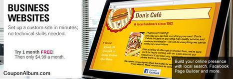 VistaPrint Business Website - $4.99 For a Month! | Coupons & Deals | Scoop.it