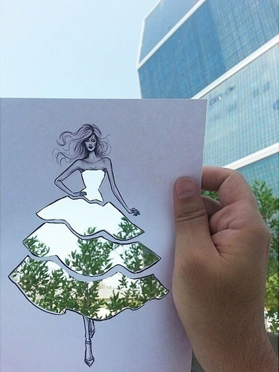 Illustrator's Ingenious Cut-Outs Turn Any Landscape into Clever Clothing Designs | Educação Tecnológica | Scoop.it