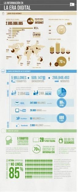 La información en la era digital #infografia #infographic #internet#socialmedia | Cibercultura | Scoop.it