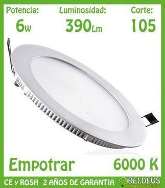 DOWNLIGHT LED 6W REDONDO ULTRASLIM BLANCO FRIO | Downlights de leds | Scoop.it