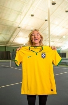 Sharapova fan de la Seleção ? | Tennis , actualites et buzz avec fasto-sport.com | Scoop.it