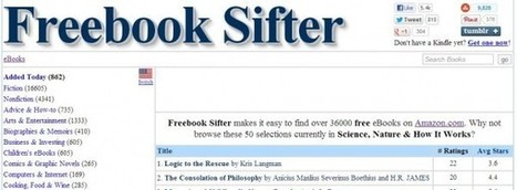 Freebook Sifter, encuentra libros gratuitos para Amazon Kindle | Recull diari | Scoop.it