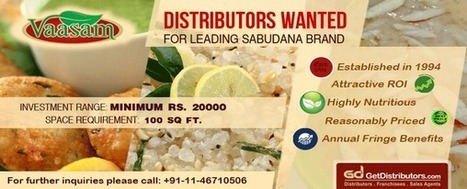 Grab Distributorship of Sago (Sabudana) with Sri Venkateswara Sago Factory | Become or Appoint Distributor, Franchisee or Sales Agent | Scoop.it