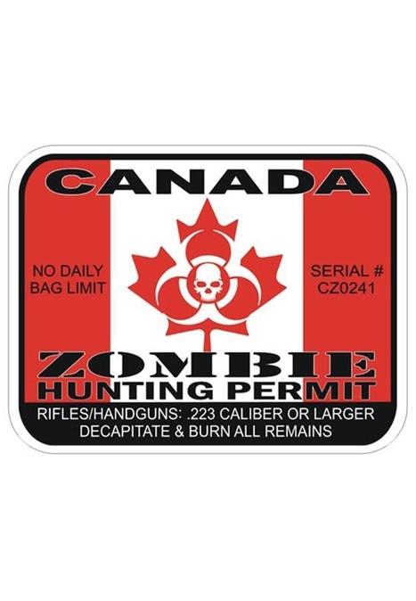 Buy Cheap Canada Zombie Permit Bumper Sticker | Military Surplus Canada | Scoop.it