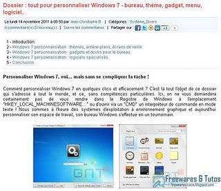 Le site du jour : tout pour personnaliser Windows 7 | blended learning | Scoop.it