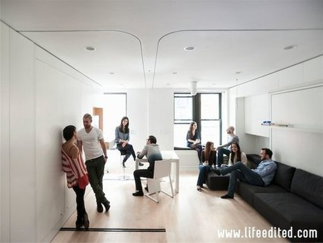 Check Out the 420-Square-Foot NYC Transformable Apartment With 8 Rooms | Small Spaces | Scoop.it