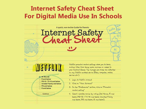 Internet Safety Cheat Sheet For Digital Media Use In Schools via TeachThought | 21st C Learning | Scoop.it