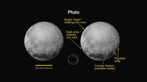 Cliffs and Crater-Like Features Appear in Latest Pluto Shot | Dr. Goulu | Scoop.it