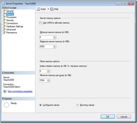 Suggested Max Memory Settings for SQL Server 2005/2008 - SQLServerCentral | analytics and sql | Scoop.it