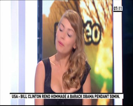 Oops le sein sexy d'Aude Pépin dans La matinale de Canal + ! - photo | Radio Planète-Eléa | Scoop.it