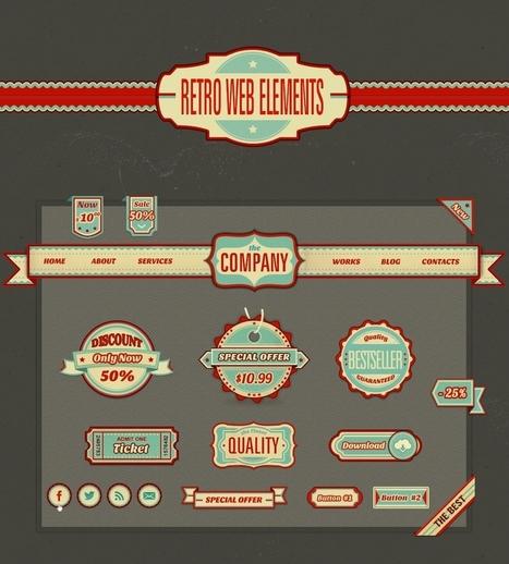 Free Retro Web Elements | Web Design Freebies | Scoop.it