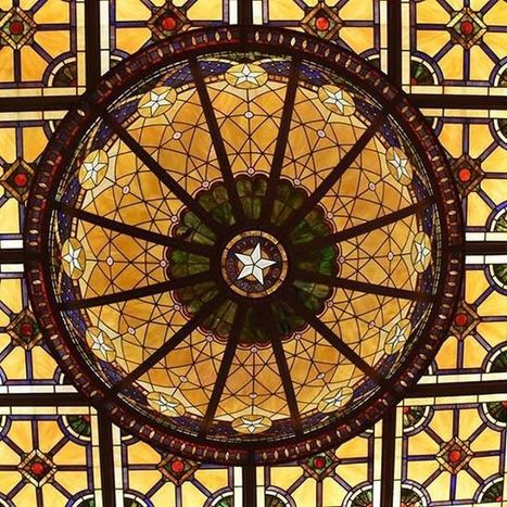 Stunning Stained Glass Ceiling at Driskill Hotel | Art & Design Matters | Scoop.it