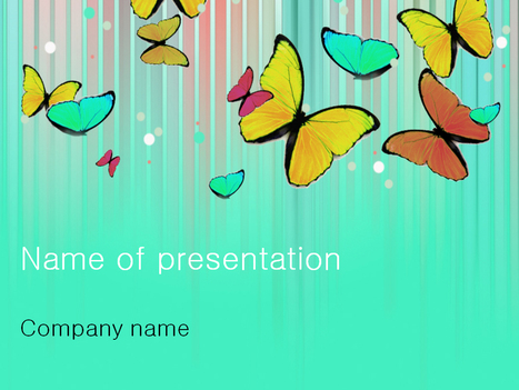 Download free Colourful Butterfly powerpoint template for presentation | Powerpoint Templates and Themes | Scoop.it