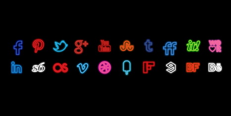 Neon Social Icons Set - Social Icons | Art Collection | Scoop.it