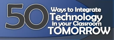 50 Ways to Integrate Technology - Ways to Anchor Technology in Your Classroom Tomorrow | Technology for school | Scoop.it