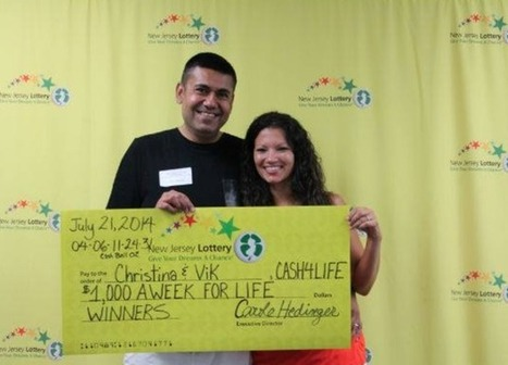 Manalapan couple wins $1K a week for life in NJ Lottery Cash 4 Life game | Lottery News | Scoop.it
