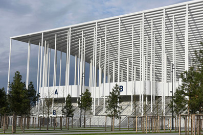 Herzog & de Meuron's Bordeaux Stadium framed by columns | The Architecture of the City | Scoop.it