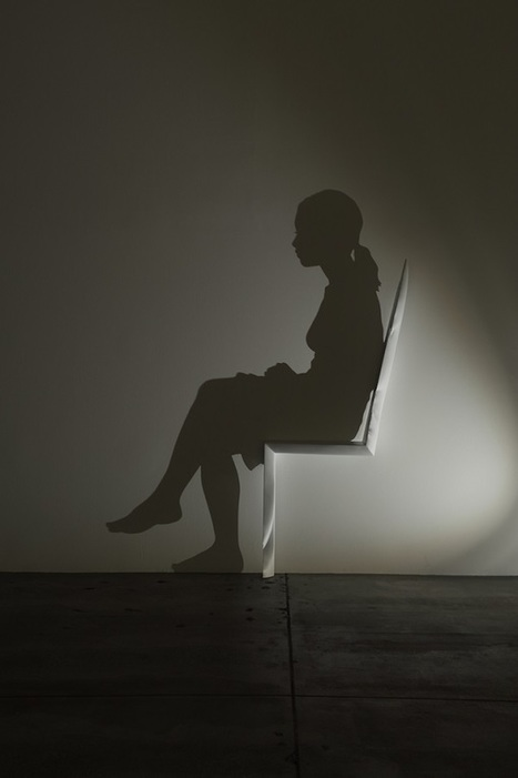 An Intricately Carved Chair That Projects A Shadow Of A Sitting Woman - DesignTAXI.com | Inspiration: Imagine. See the possibilities. | Scoop.it
