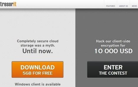 Tresorit: 5 GB de almacenamiento gratis en la nube | Las TIC y la Educación | Scoop.it