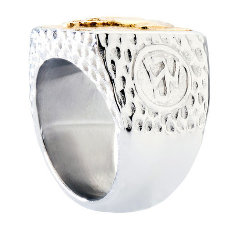 Unique Tree of Life Signet Ring. Platinum Style Surgical Stainless Steel with 18kt Gold Plating.   Jewelry Trends   Scoop.it