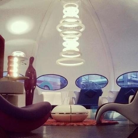 Twitter / TheGreatInes: Maison du futur aux Puces de ...   Futuro house , Marché Dauphine   Scoop.it