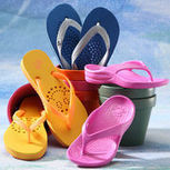 AquaFlops in colorful designs | ShowaFlops - Waterproof and antifungul Flip Flops shop, | Scoop.it