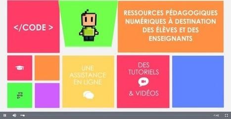 #ClasseTICE - Educode : des ressources pédagogiques numériques à destination des élèves et des enseignants | Jeux educatifs | Scoop.it