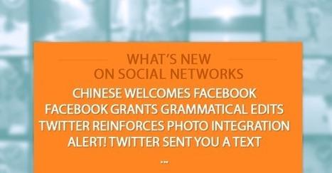 Ce qu'il faut savoir sur les réseaux sociaux : Facebook et Twitter en Chine, Modifier son post après publication, Pinterest partage plus…   benoitvallon   Scoop.it