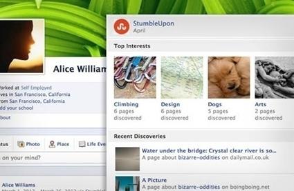 StumbleUpon Upgrades App For Facebook Timeline - AllFacebook | Social Media Primer | Scoop.it