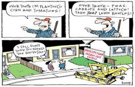 Farmer's Blog: Vancouver Sun Editorial Cartoon | Vertical Farm - Food Factory | Scoop.it