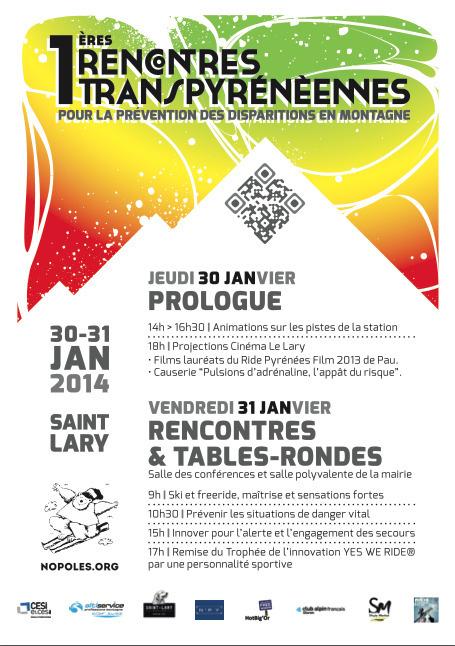 Rencontres pyrénéennes pour la prévention des disparitions en montagne les 30 et 31 janvier à Saint-Lary - Association Nopoles®   Vallée d'Aure - Pyrénées   Scoop.it