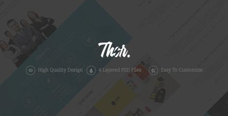 Thor – One Page Portfolio PSD Template (Portfolio) | Best HTML Themes | Scoop.it