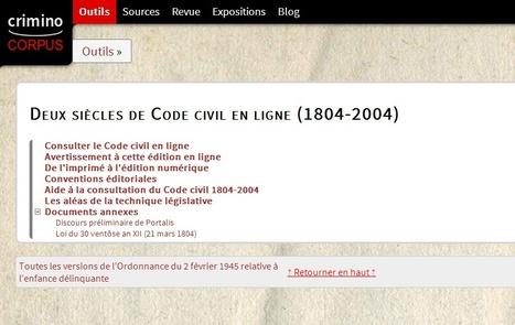 Le Code civil en ligne toutes versions entre 1804 et 2004 -  Actualites de l'histoire | Nos Racines | Scoop.it