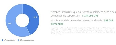 Google publie le Top 10 des noms de domaine affectés par le droit à l'oubli - Arobasenet.com | 694028 | Scoop.it