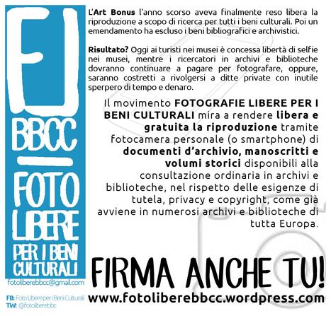 FOTOGRAFIE LIBERE PER I BENI CULTURALI | Généal'italie | Scoop.it