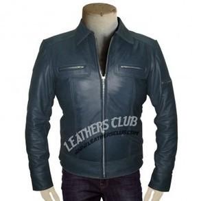 Navy Blue Designer's Leather Jacket For Men's   Men's Leather Jackets   Scoop.it