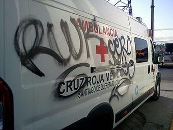 Cruz Roja Sede Central: Grafitean ambulancia de Cruz Roja | fraude y daño en propiedad ajena ejemplos| | Scoop.it