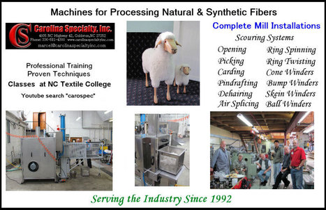 Carolina Specialty Inc. | Machinery for processing of wool, alpaca and alike fibers. | Laines | Scoop.it