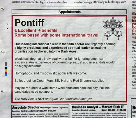 Wanted: Pontiff. | A Node of Ranvier - Again | Scoop.it