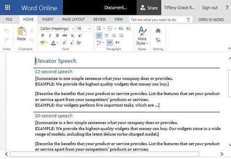 How To Design a Quick Sales Speech in Word   Free Microsoft Word Templates   Scoop.it
