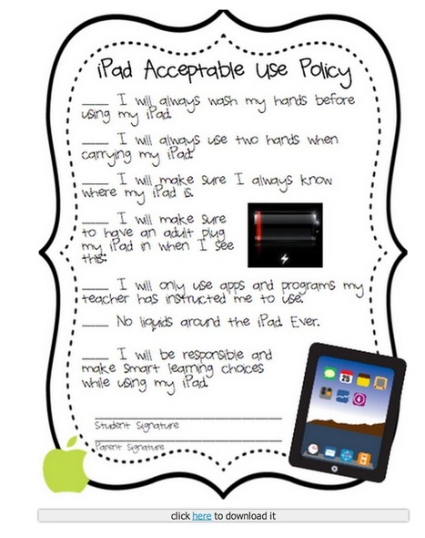 Handy iPad Posters to Use in The First Week of School ~ Educational Technology and Mobile Learning | Physical Education - ICT Innovation | Scoop.it