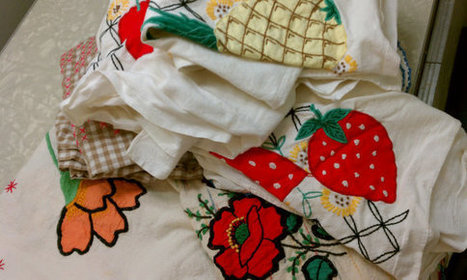 Cutter Lot of 7 Vintage Tablecloths Runners Linens Textiles for Sewing & Crafting | Vintage Living Today For A Future Tomorrow | Scoop.it