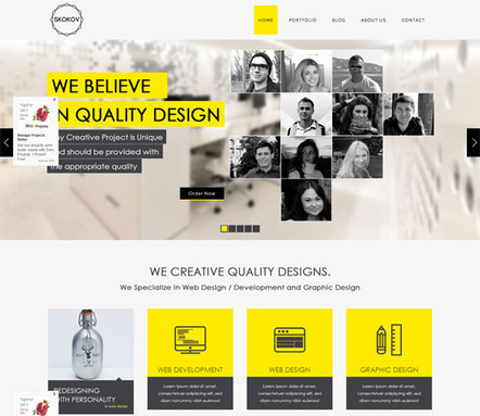 Skokov Corporate Flat Responsive web template   html5   Scoop.it