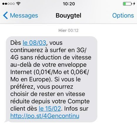Clients Bouygues Telecom, débit réduit ou hors forfait pour votre internet ? | Freewares | Scoop.it