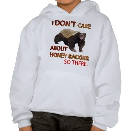 I Don't Care About Honey Badger, Cute Kids Tees | Kids Fashion | Scoop.it