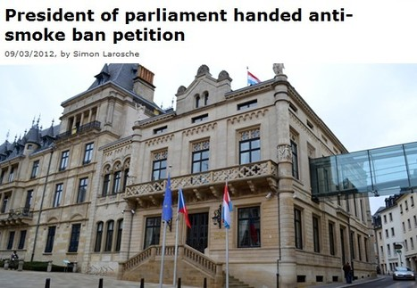 President of parliament handed anti-smoke ban petition | Luxembourg (Europe) | Scoop.it