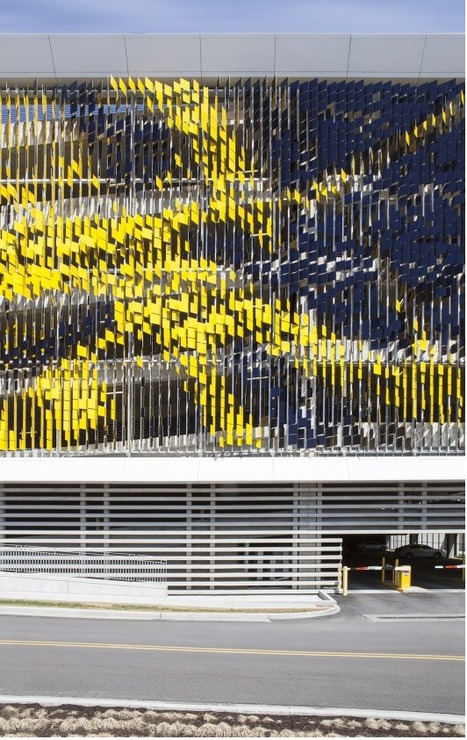 [Indianapolis, USA] Parking Structure ART Facade / Urbana | The Architecture of the City | Scoop.it