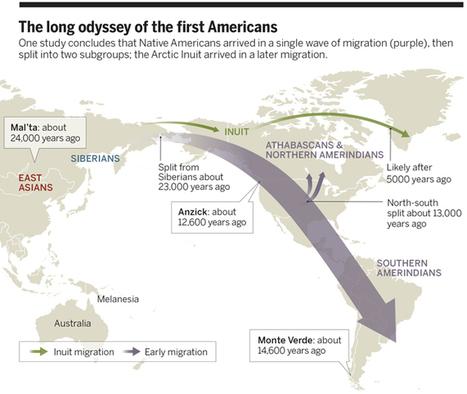 Des peuples amérindiens reliés génétiquement avec ceux d'Océanie - SciencePost | Merveilles - Marvels | Scoop.it