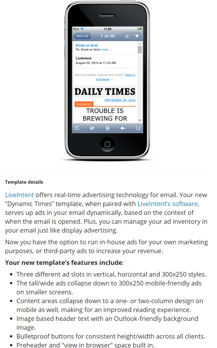 Serve up Dynamic Ads in Email with Our Free Responsive Template - Email on Acid | The Marketing Technology Alert | Scoop.it